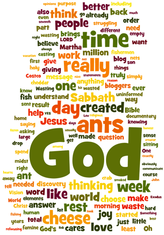 Wordle word cloud for ShBlog as of September 20, 2011